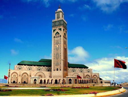 Casablanca king hassan ii mosque morocco