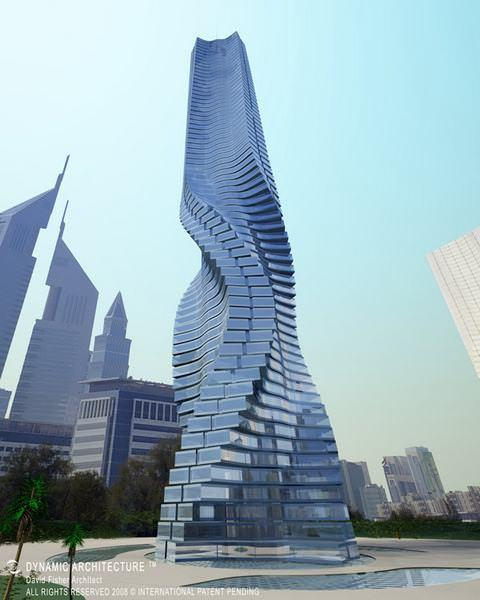 12 33 worlds top strangest buildings rotating tower dubai3