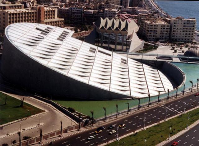 21 33 worlds top strangest buildings bibliotheca alexandrina