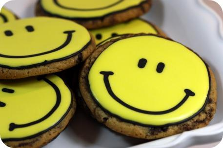 Chocolate Chip Happy Face Cookies