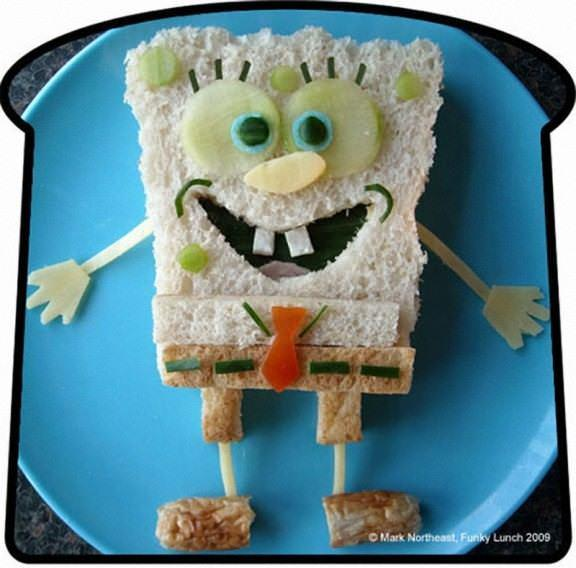 Spongebob 576x568 The art of the sandwich (14 pics)