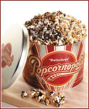 Chocolate Popcorn Tin