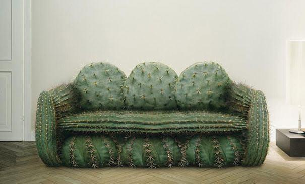 Creative sofa cactus