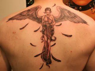 Best Tribal Angel Tattoo Design For Guys
