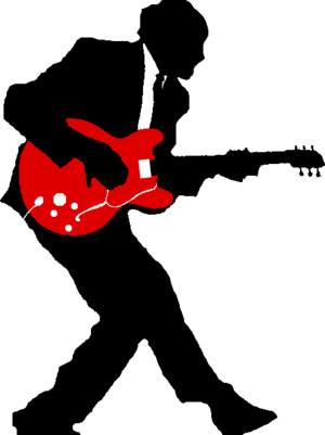 English: Icon for rock music on Wikipedia. Sil...