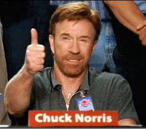 Δείτε τα  καλύτερα animated gifs με τον Chuck Norris!