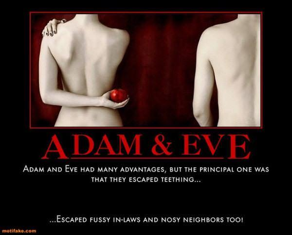 Adam Eve Eden Sin Bible Couple Cubby Demotivational Posters 1294888891 600x483