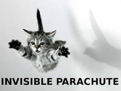 Cat Invisible Parachute Funday.gr
