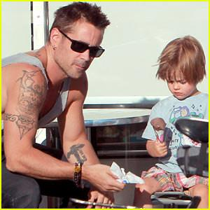 Colin Farrell Ice Cream With Henry