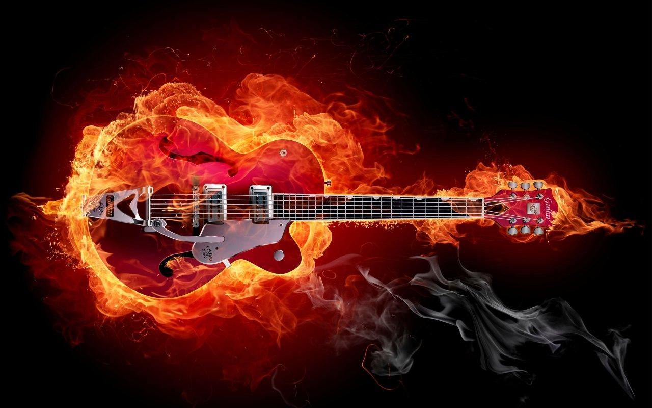 Hard Rock Music Guitar 1280x800