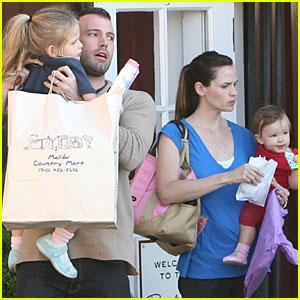 Jennifer Garner Ben Seraphina Violet Affleck Malibu Country Mart