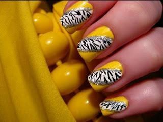 Zebra Animal Print Nails Design Nyxia+me+sxedia+apw