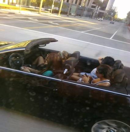Appreciating The Town In A Convertible