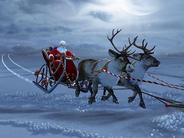 278777 Santa Claus D Screensaver