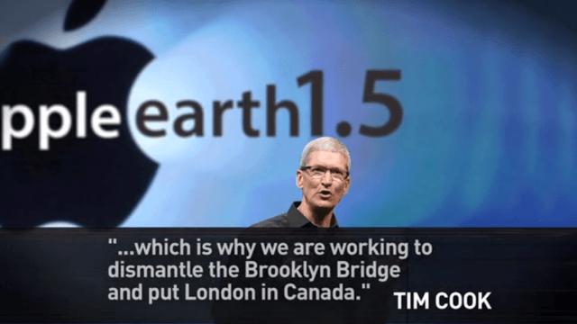 H Apple λύνει το πρόβλημα με τους χάρτες: αναβαθμίζει την επιφάνεια της Γης :)
