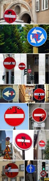 clet-abraham_street-art_stickers-on-traffic-signs_multi_collabcubed