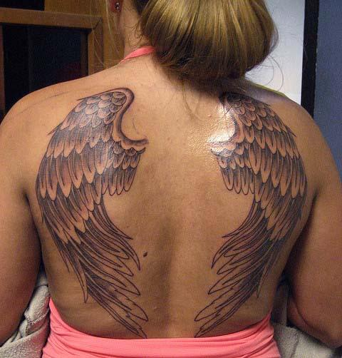 Beautiful Women Wing Tattoo