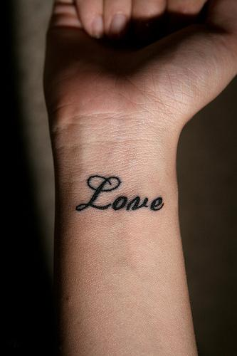 Wrist Love tattoo