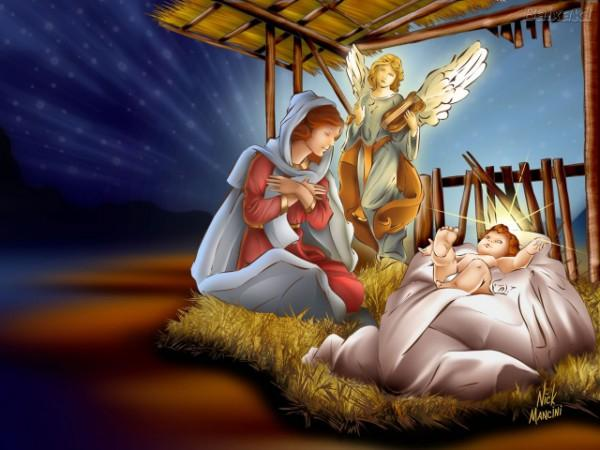 Merry Christmas Jesus Birth Wallpaper 0 W640 600x450