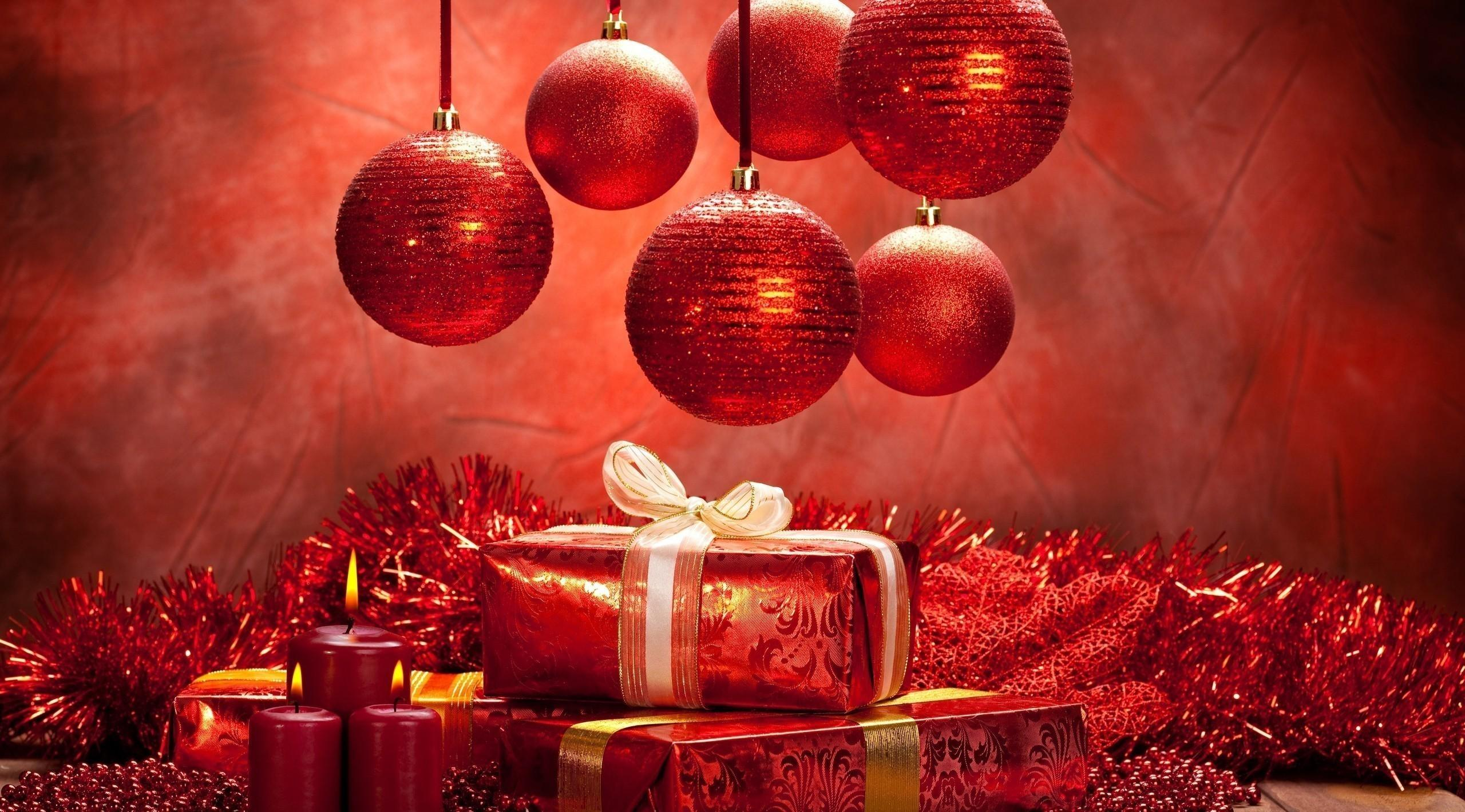 New Year Christmas Christmas Decorations Gifts Candles Mood 36366 2560x1420