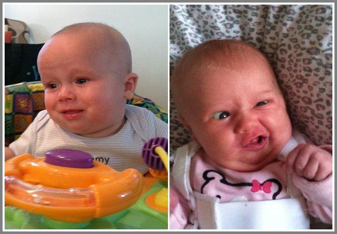 Αστείες φατσούλες μωρών ενώ κάνουν τα.. κακάκια τους